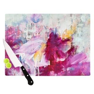 Kess InHouse Iris Lehnhardt 'Magenta' Pink Paint Glass Cutting Board