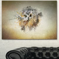Designart 'Large Gracing Owl' Large Animal Art on Canvas