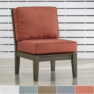 Yasawa Modern Grey Outdoor Cushioned Sectional Wood Middle Chair by NAPA LIVING