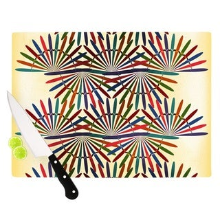KESS InHouse Famenxt 'Colorful Abstract Pattern' Yellow Multicolor Cutting Board