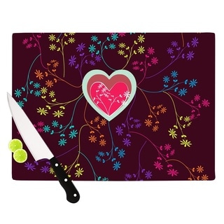 Kess InHouse Famenxt 'Love Heart' Multicolor Heart Cutting Board