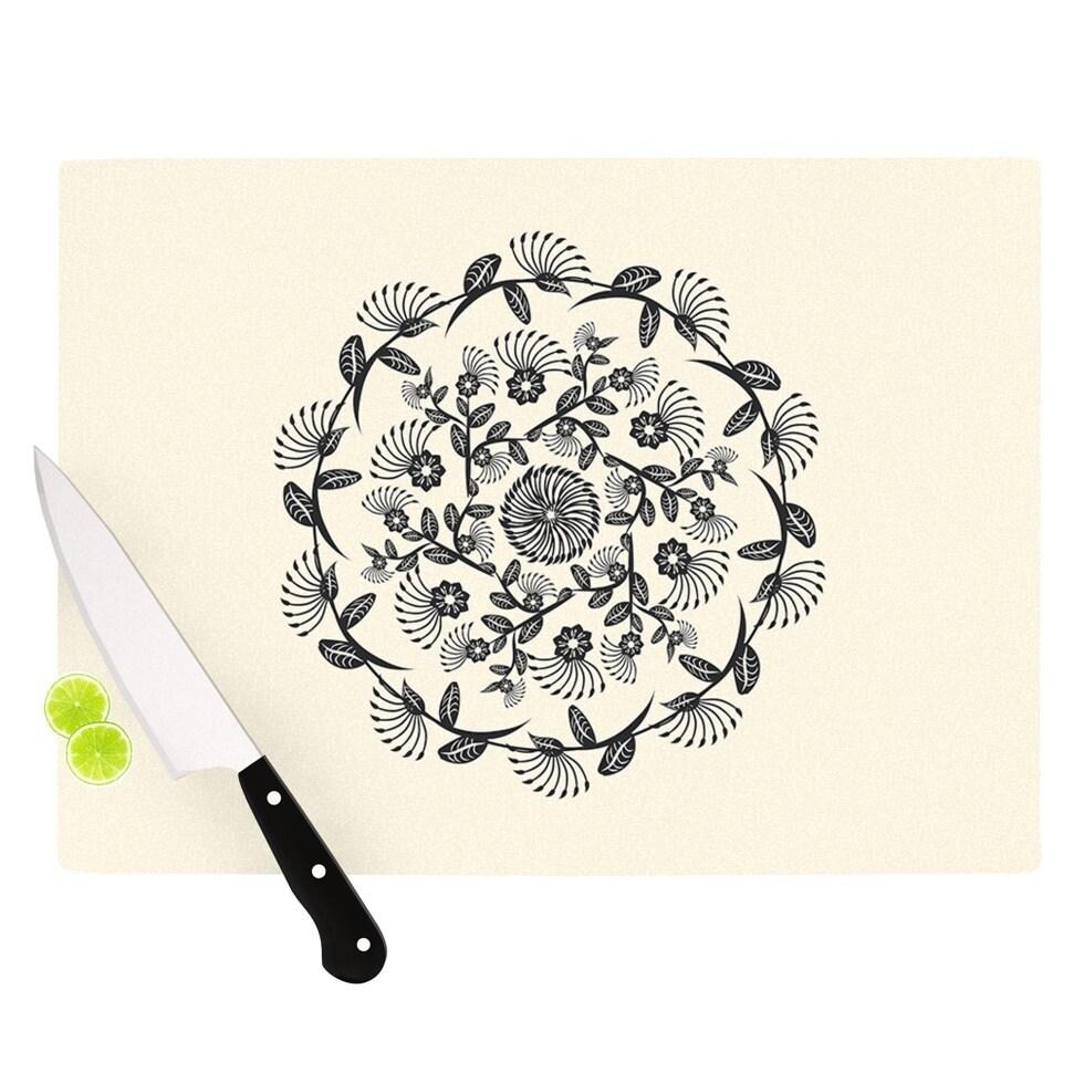 Kess InHouse Famenxt 'Black and White Decorative Mandala'...