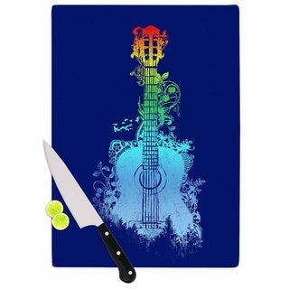 Kess InHouse Frederic Levy-Hadida 'Nature Tune' Blue Multicolored Cutting Board