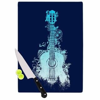 KESS InHouse Frederic Levy-Hadida 'Nature Tune - Blue' Aqua Music Cutting Board