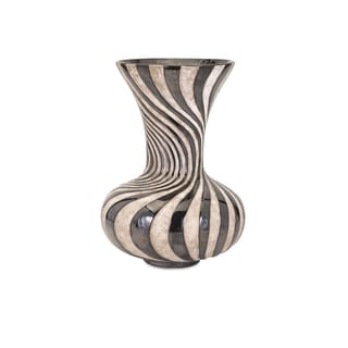 Leza Medium Swirl Earthenware Vase