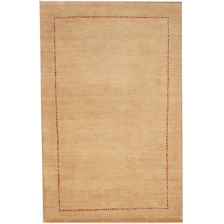 Herat Oriental Indo Hand-knotted Gabbeh Wool Rug (2'4 x 3'8)