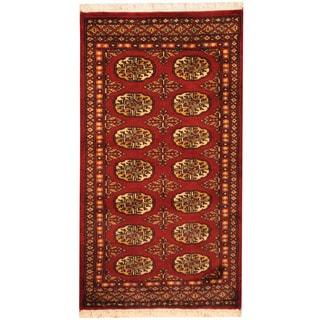 Herat Oriental Pakistani Hand-knotted Bokhara Wool Rug (2'1 x 3'10)