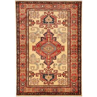 Herat Oriental Afghan Hand-knotted Tribal Kazak Wool Rug (3' x 4'2)