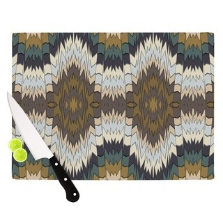 Kess InHouse Akwaflorell 'Papercuts' Brown Glass Cutting Board