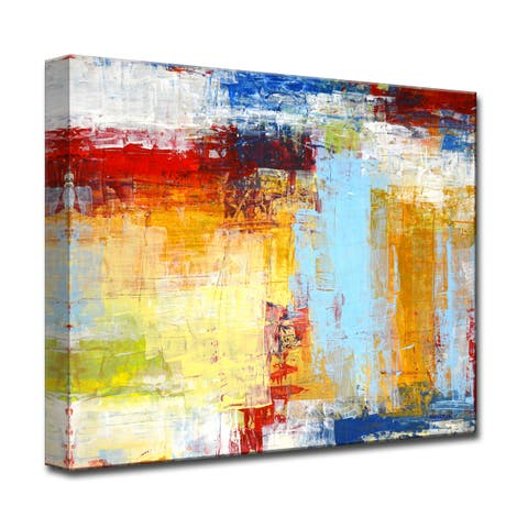 Seasonal' by Norman Wyatt, Jr Abstract Wrapped Canvas Wall Art