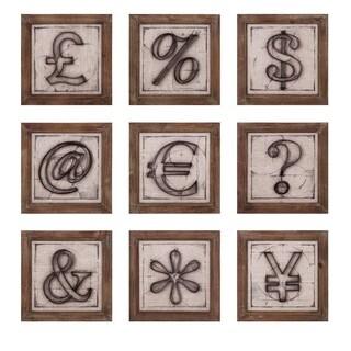 Beth Kushnick Symbols Wall Décor - Ast 9