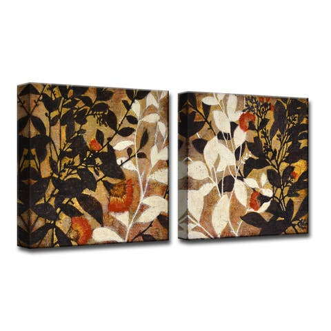 Growing Together I/II' by Norman Wyatt, Jr 2-Piece Wrapped Canvas Wall Art Set