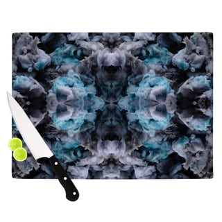 Kess InHouse Akwaflorell 'Abyss' Blue and Black Tempered Glass Cutting Board