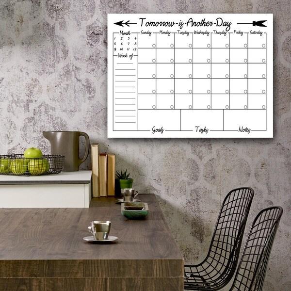 Ready2HangArt Navajo Dry Erase Monthly Calendar on ArtPlexi