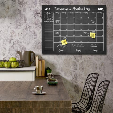 'Tomorrow' Dry Erase Monthly Calendar on ArtPlexi