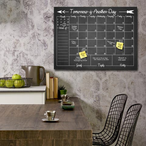'Tomorrow' Dry Erase Monthly Calendar on ArtPlexi