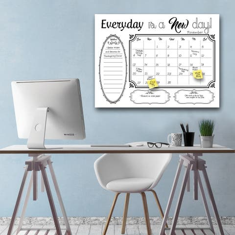 'Shabby Chic' Dry Erase Monthly Calendar on ArtPlexi