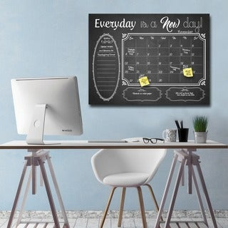 Ready2HangArt Shabby Chic Dry Erase Monthly Calendar on ArtPlexi (3 options available)