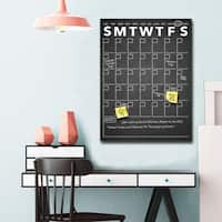 Ready2HangArt Modern Dry Erase Monthly Calendar on ArtPlexi