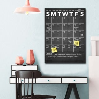 Ready2HangArt Modern Dry Erase Monthly Calendar on ArtPlexi (2 options available)