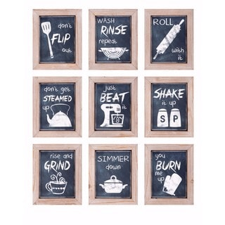 Kitchen Inspirations Wall Decor - Ast 9