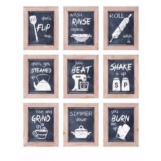 Kitchen Inspirations Wall Decor - Ast 9