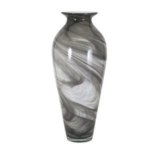Marbleized Oversized Glass Vase