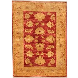 Herat Oriental Afghan Hand-knotted Vegetable Dye Oushak Wool Rug (2'7 x 3'6)