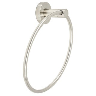 Italia Venezia Brushed Nickel Finish Stainless Steel Towel Ring