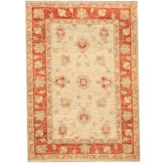 Herat Oriental Afghan Hand-knotted Vegetable Dye Oushak Wool Rug (2'7 x 3'7)