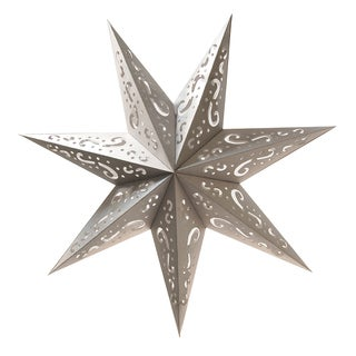 Silver Paper 7-point Star Lantern (Set of 3)