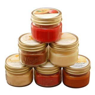 Scented Holiday Candles in 3-ounce Mason Jar (Set of 6)