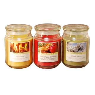 Scented Candles Holiday Collection in 18 oz. Glass Jars (Set of 3)