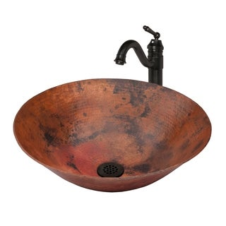 Novatto CATALONIA Copper Vessel Sink Set, Oil Rubbed Bronze
