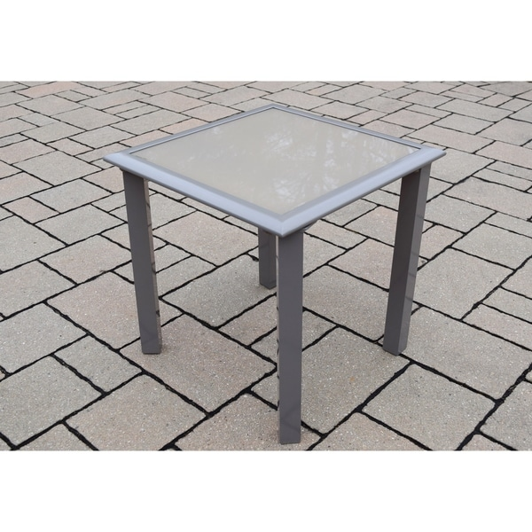 Sydney Aluminum Gl Screen Printed Side Table