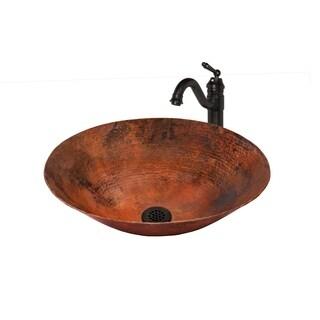 Novatto Oil Rubbed Bronze Bilboa Copper Vessel Sink Set