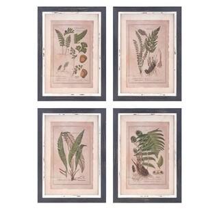 Botanical Print Wall Decor (Set of 4)