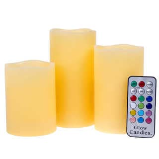 Flameless Scented Color-changing Candle Set (Pack of 3)