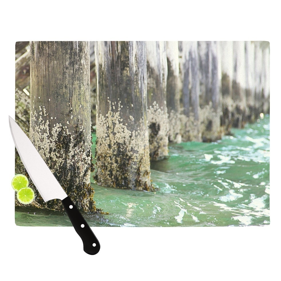 Kess InHouse Debbra Obertanec 'Saltwater Pylons' Wooden C...