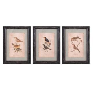 Woodland Bird Wall Décor - Ast 3 - Multi-color - N/A