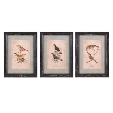 Woodland Bird Wall Décor - Ast 3 - Multi-color