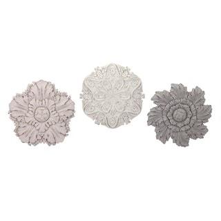 Ella Elaine Dimensional Wall Flowers - Ast 3