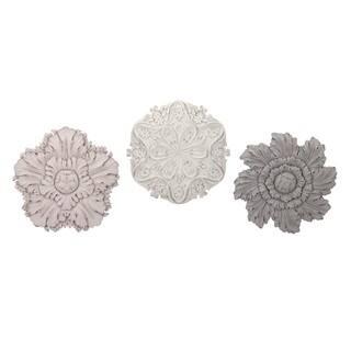 Ella Elaine Dimensional Wall Flowers - Ast 3 - Black/Multi-color