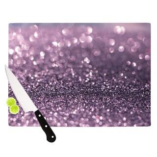 KESS InHouse Debbra Obertanec 'Lavender Sparkle' Purple Glitter Cutting Board
