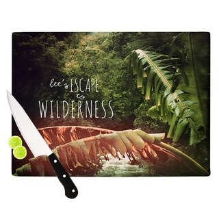 KESS InHouse Deepti Munshaw Escape to Wilderness Forest Quote Cutting Board