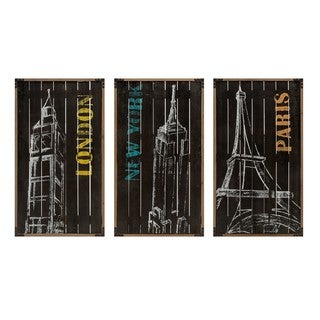 CiTrisha Yearwood Chalk Art Decor - Ast 3 - Multi-color