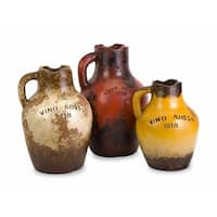 Vino Rosa Terracotta Vases with Handle - Set of 3