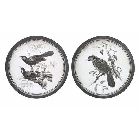 Black and White Bird Wall Décor - Ast 2
