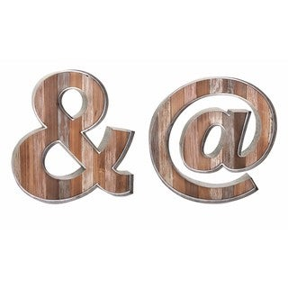 Dothan Wood and Metal Wall Décor - Ast 2