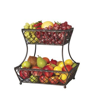Gourmet Basics by Mikasa Loop and Lattice 2-tier Basket|https://ak1.ostkcdn.com/images/products/13140299/P19868644.jpg?impolicy=medium